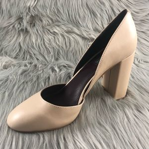 BCBGeneration Tan Thick Heel Size 8 NWT